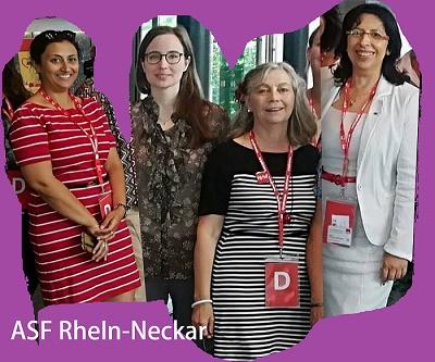 v.l Nezaket Yildirim, Dominique Odar, Ursula Wertheim-Schäfer, Stella Kirgiane-Efrimidou